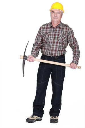 slasher: Middle-aged man with Axe