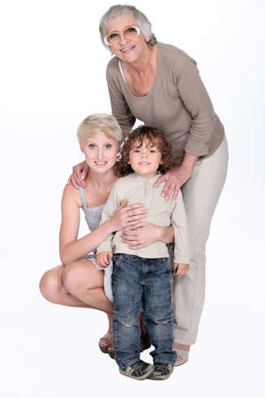 portrait of grandmother with daughter and grandchild Stock Photo - 13645725