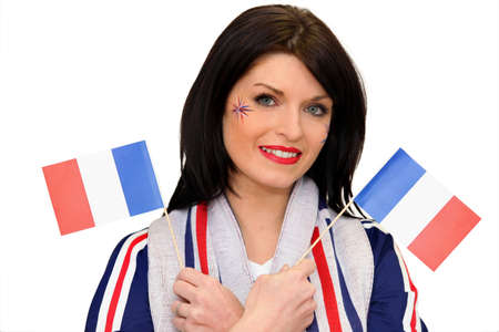 frenchwoman: A patriotic woman Stock Photo