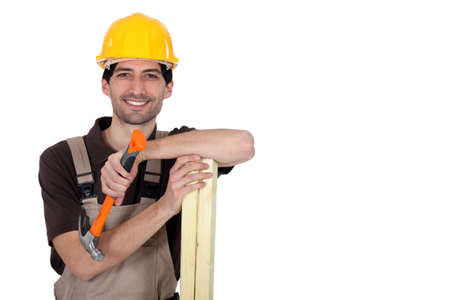 banter: Carpenter with hammer