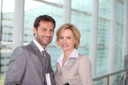 fair hair: Business couple smiling