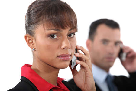 Portrait of a businesswoman with mobile phone Stock Photo - 13713060