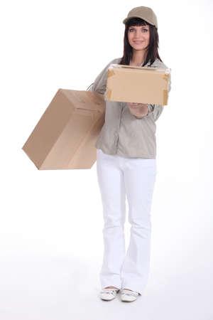 deliverer: Young deliverer of packages