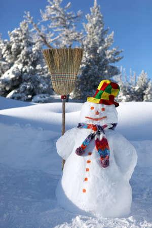 bolas de nieve: Mu�eco de nieve Foto de archivo
