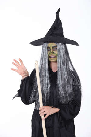 halloween ugly: Witch with pointy hat
