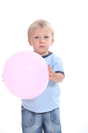 Child with pink balloon Stock Photo - 13713680