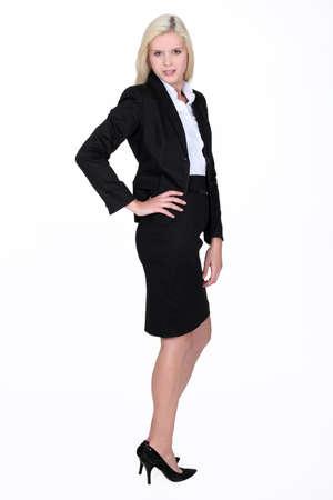 ass standing: A sexy businesswoman