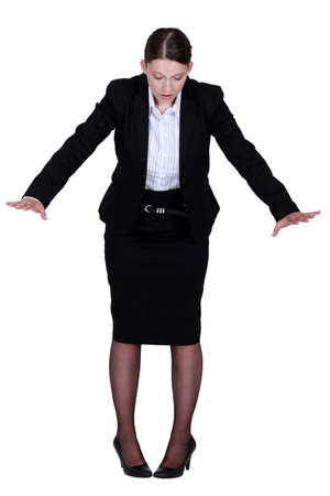 Businesswoman on the edge Stock Photo - 13712054