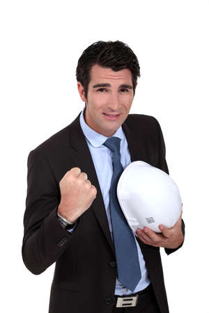 foreman clenching his fist Stock Photo - 13713513