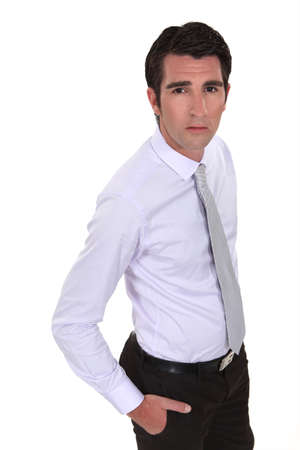 worried businessman: A worried businessman Stock Photo