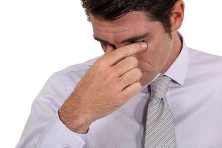 sinus: Businessman with a headache