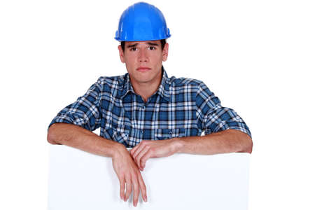 Sad builder photo