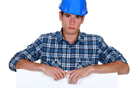 Builder looking upset photo