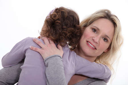 mother embracing her little girl Stock Photo - 13712149