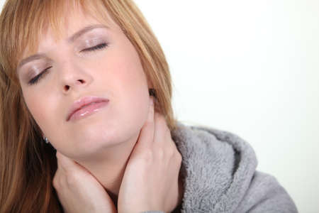woman having a neck ache Stock Photo - 13712777
