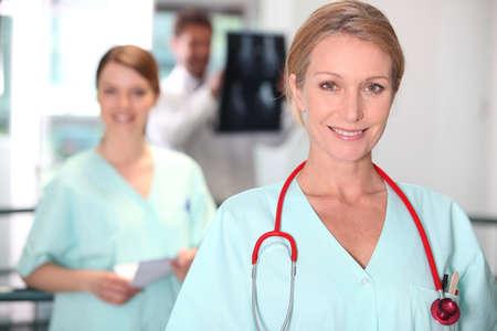 Female nurse in X-ray room Stock Photo - 13712515