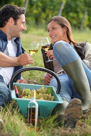 wellington: Grape pickers taking a break