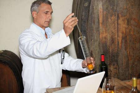 vats: Wine testing Stock Photo