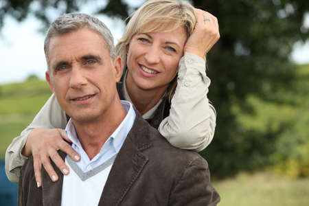 blonde couple: Farming couple