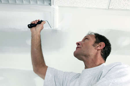 Painting office ceiling photo