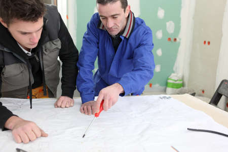 Two men starting DIY project Stock Photo - 13779421
