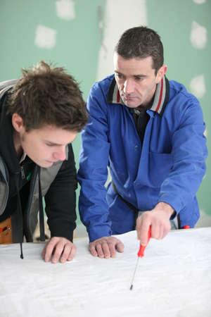 apprentice: Builder and his apprentice