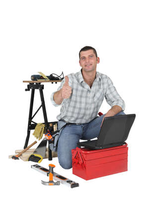 Carpenter giving his approval Stock Photo - 13778464
