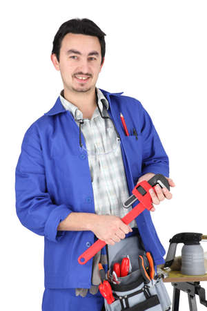 skilled technician with tools Stock Photo - 13779793