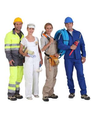 calzado de seguridad: diferentes puestos de trabajo Foto de archivo
