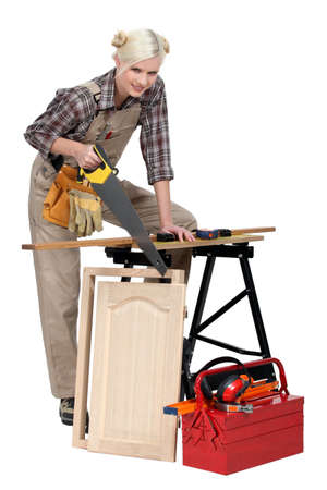 A busy cabinet maker Stock Photo - 13782342