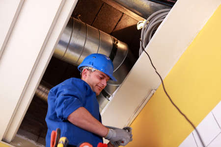 electrician wireing Stock Photo - 13782780