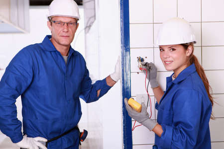 Two electrician. Stock Photo - 13791574