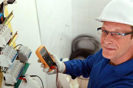fusible: portrait of a technician Stock Photo