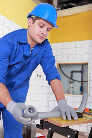 tuberias de agua: Plomero de instalar las tuber�as de agua