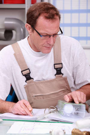 Craftsman Plumber Stock Photo - 13783773