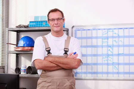 Man in store with arms crossed Stock Photo - 13783777