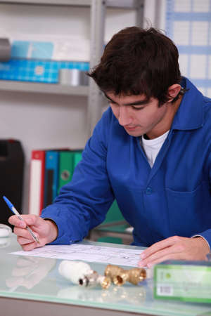 young man in workshop photo
