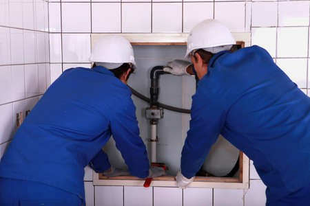 back to work: Installation of plumbing