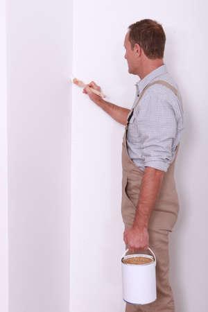 hombre pintando: El hombre pintura Foto de archivo