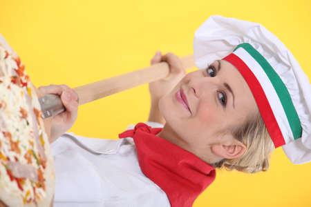 Portrait of a proud pizza maker Stock Photo - 13810127