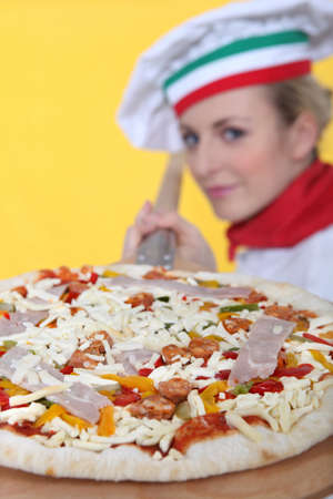 A proud pizza maker Stock Photo - 13808830