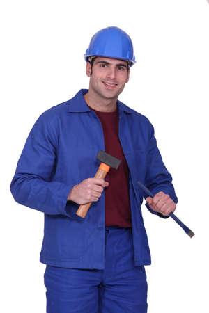 bezel: Male worker