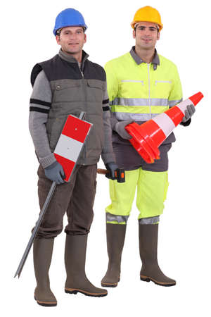 Two construction workers Stock Photo - 13808132