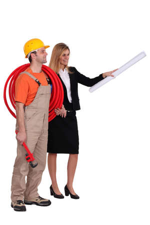 Architect and builder Stock Photo - 13804068