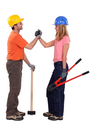 Construction couple Stock Photo - 13804000