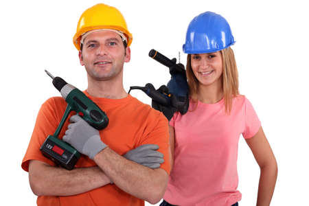 A team of tradespeople photo