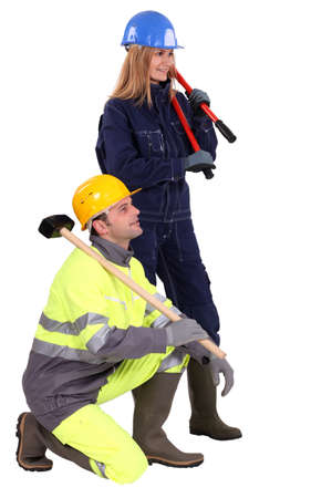 construction crew: Construction crew