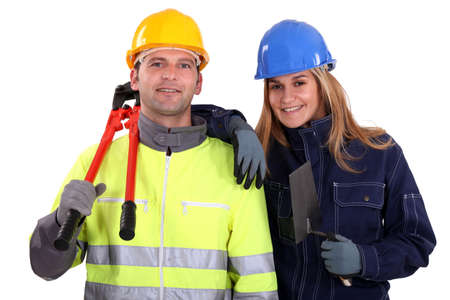 tradespeople: A team of tradespeople