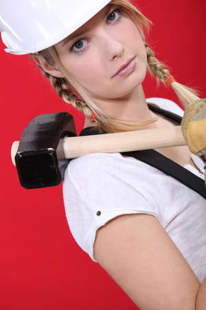 woman with shoulder harness Stock Photo - 13811733