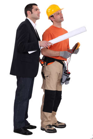Surveyor and builder Stock Photo - 13805883
